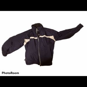 GAP Men's Navy Blue and Tan Insulated Jacket